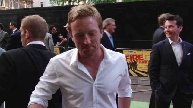 interview with paul collingwood fire in babylon european premiere on may 09 2011 in london england - one mid adult man only stock videos & royalty-free footage