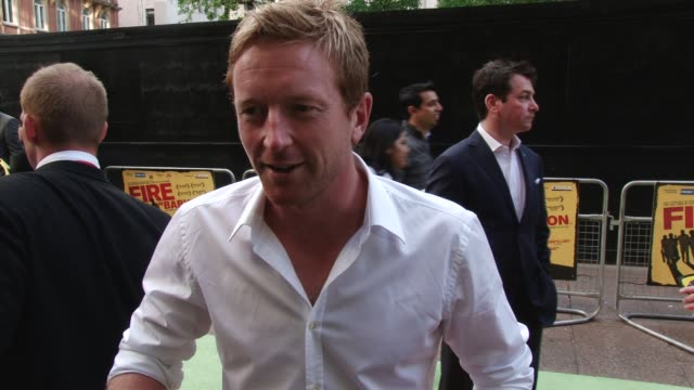 interview with paul collingwood fire in babylon european premiere on may 09 2011 in london england - oberhemd stock-videos und b-roll-filmmaterial