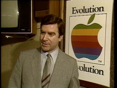 Interview with Peter Cobb Managing Director of Apple Computers UK / he talks about the Apple Lisa computer compared to other computers and how easy...