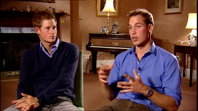 Interview with Princes William and Harry about memorial concert for their mother Prince William and Prince Harry interview SOT On organising both...