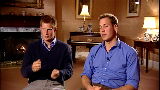 Interview with Princes William and Harry about memorial concert for their mother Prince William interview SOT On holding concert at new Wembley...