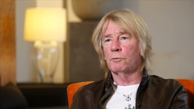 interview with rick parfitt co founder of status quo about his possible future plans and that he misses being on tour as he recovers from a heart... - popular music tour stock videos and b-roll footage