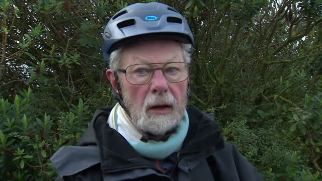 interview with roy warne on his doorstep eyewitness and first on scene to prince philip's car crash - privatfahrzeug stock-videos und b-roll-filmmaterial