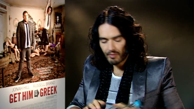 London INT Russell Brand interview SOT On being thrilled to be engaged to Katy Perry / On having a new way of life