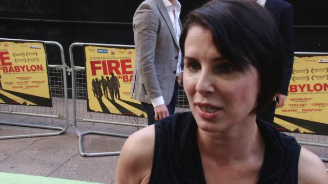 interview with sadie frost fire in babylon european premiere on may 09 2011 in london england - one mid adult woman only stock videos & royalty-free footage