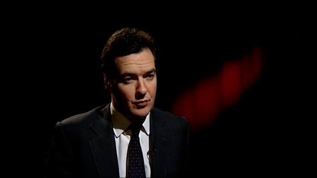 Interview with Shadow Chancellor George Osborne MP ENGLAND London INT George Osborne MP interview SOT Facing worst recession for a generation / Bad...