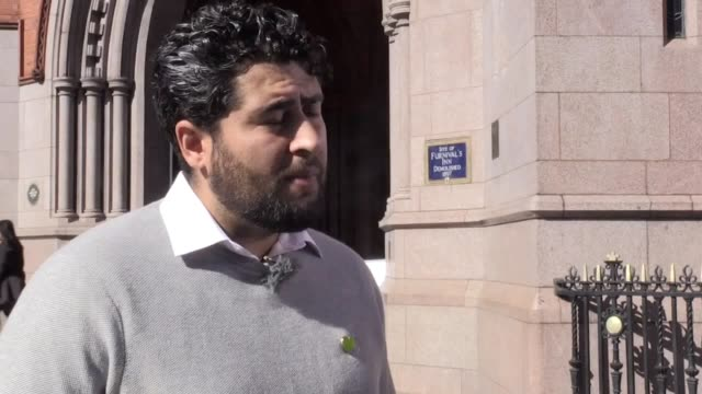 interview with shahin sadafi former chairman and current board member of grenfell united he explains the reaction to dany cottons statements and the... - ordförande bildbanksvideor och videomaterial från bakom kulisserna