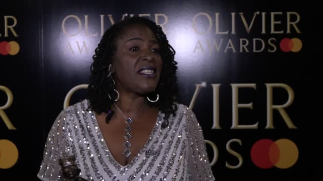 Interview with Sharon D Clarke who won Best Actress in a Musical award at the Olivier Awards at the Royal Albert Hall in London