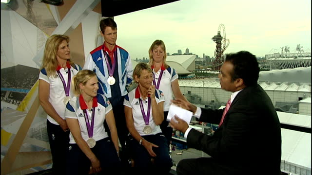 interview with silver medallist eventing team england london int william foxpitt interview sot on britain winning first gold medals on watching other... - olympic medal stock videos & royalty-free footage