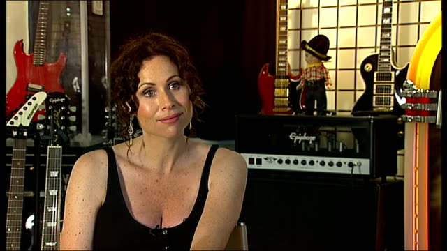 stockvideo's en b-roll-footage met interview with singer and actress minnie driver england london int minnie driver interview sot on loving her album / her songwriting style and what... - minnie driver