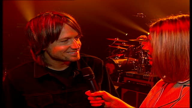 interview with singer keith urban; england: london: shepherd's bush empire: int keith urban interview sot - good job if you can get it / shocked at... - keith urban stock videos & royalty-free footage