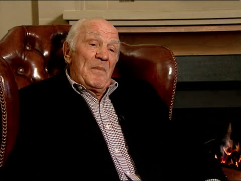 interview with sir henry cooper former boxing heavyweight champion england kent brands hatch int sir henry cooper interview sot if you are talking... - head back stock videos and b-roll footage