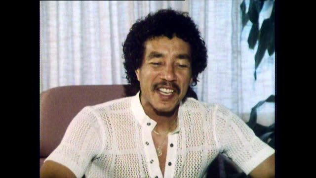 "interview with smokey robinson, speaking in 1984, on modern songwriting and how what is considered 'acceptable' has changed: ""...some of the subject... - censorship stock videos & royalty-free footage"