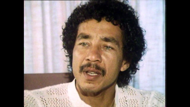 "interview with smokey robinson speaking in 1984, on what makes a song successful: ""...a lot of people write records and they record them and then... - editorial stock videos & royalty-free footage"