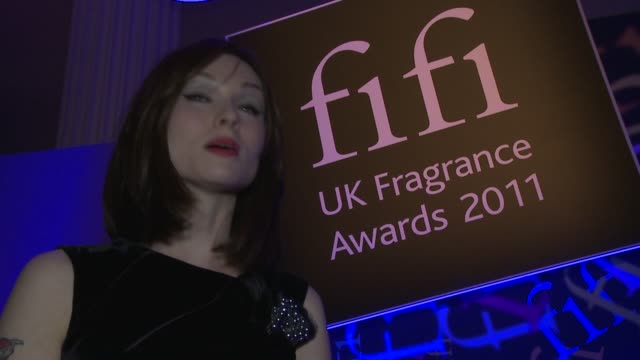 interview with sophie ellis bextor the fragrance awards on april 14 2011 in london england - one mid adult woman only stock videos & royalty-free footage