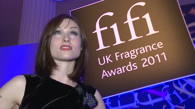 interview with sophie ellisbextor the fragrance awards on april 14 2011 in london england - one mid adult woman only stock videos & royalty-free footage