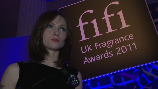 interview with sophieellisbextor the fragrance awards on april 14 2011 in london england - one mid adult woman only stock videos & royalty-free footage