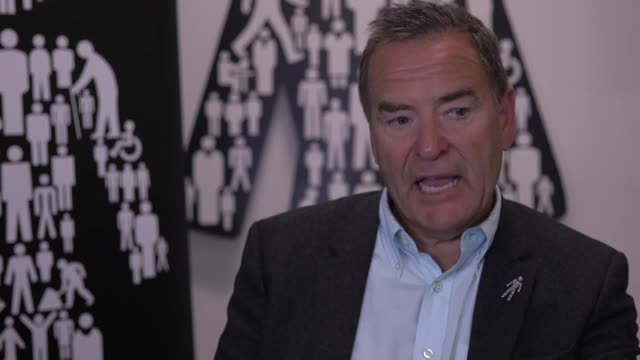 interview with sports broadcaster jeff stelling where he discusses hartlepool's dave jones stepping down as president of the club who he thinks will... - sports league stock videos & royalty-free footage