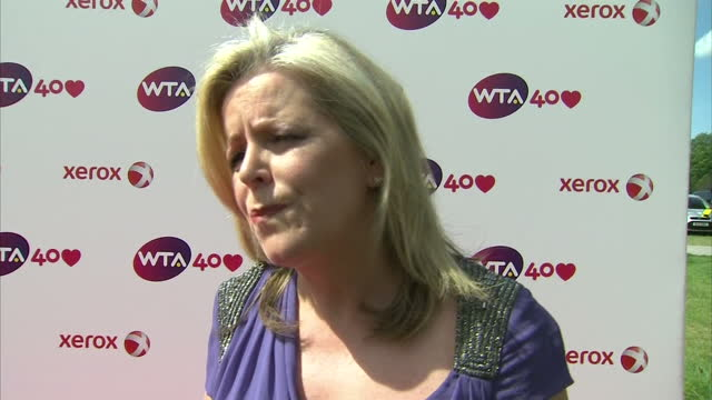 stockvideo's en b-roll-footage met interview with stacey allaster ceo of the women's tennis association i think it's critical that today's generation understands the journey and how... - directrice