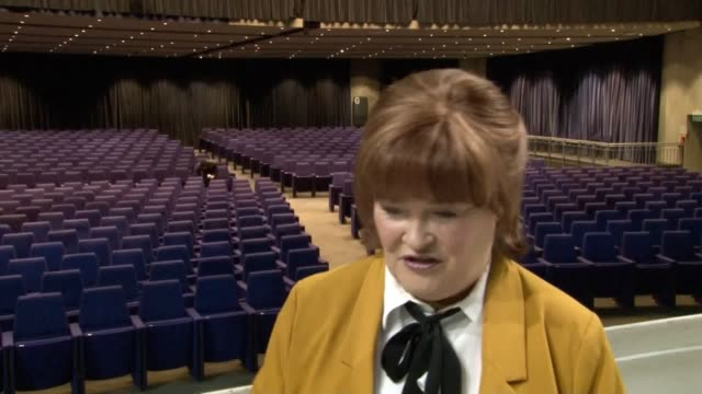 interview with susan boyle at the sec armadillo in glasgow ahead of her ten tour which starts in march the arena is where the scottish singer... - britain's got talent stock videos & royalty-free footage