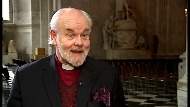 interview with the bishop of london about 2011 int right reverend richard chartres interview sot you cannot separate finance from moral consideration - bishop of london stock videos & royalty-free footage