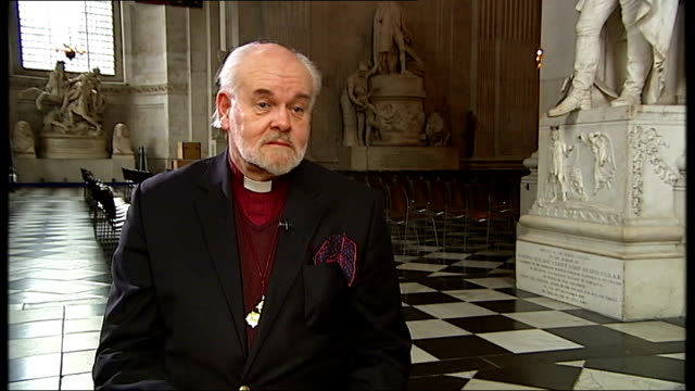 interview with the bishop of london about 2011 st paul's cathedral int right reverend richard chartres interview sot 2011 saw the best of times and... - bishop of london stock videos & royalty-free footage