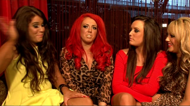 interview with the cast of reality show 'geordie shore'; int interview with cast members of reality show ' geordie shore ' sot what are the viewers... - the x factor stock videos & royalty-free footage