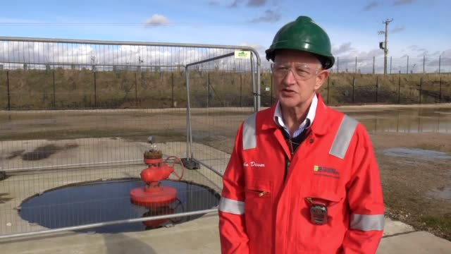 Interview with Third Energy head of operations John Dewar who is standing next to the KM8 wellhead in Mirby Misperton North Yorkshire where Third...