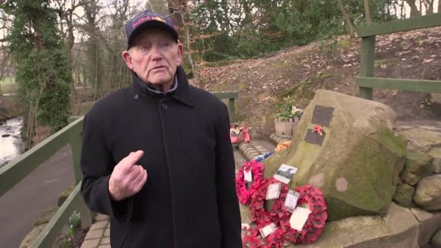 vídeos y material grabado en eventos de stock de interview with tony foulds, who spend four hours a day tending a memorial to american servicemen killed in a 1944 bomber crash in endcliffe park,... - sumar