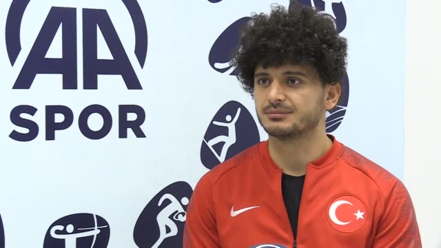 interview with turkish national amputee football player baris telli at anadolu agency headquarters in ankara on january 09 2019 telli says he does... - world sports championship stock videos & royalty-free footage