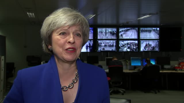 interview with uk prime minister theresa who answers question regarding leader of the labour party jeremy corbyn allegedly calling her a stupid woman... - prime minister of the united kingdom stock videos and b-roll footage