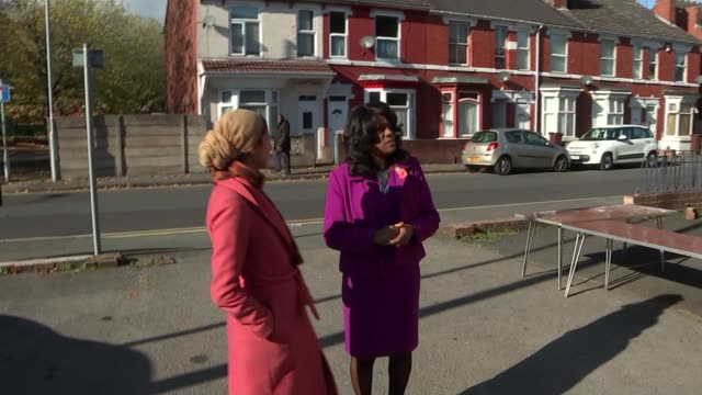 Interview with West Midlands' first black MP Eleanor Smith Wolverhampton Wolverhampton South West setup shot with reporter outside old Conservative...