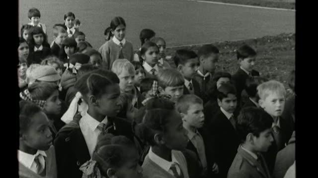 Interview with West Midlands' first black MP Eleanor Smith FS050968114 / TX 591968 Wolverhampton Children arriving at Grove Junior School B/W Teacher...