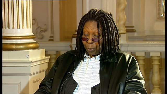 interview with whoopi goldberg whoopi goldberg interview sot on her fear of flying / on wanting to be an ambassador one day / on being happy to see... - whoopi goldberg stock videos & royalty-free footage