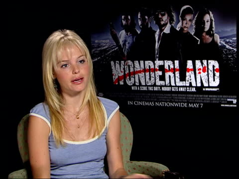 interview with wonderland star kate bosworth itn london int kate bosworth interviewed sot you never know what you're going to get from val which... - kate bosworth stock-videos und b-roll-filmmaterial