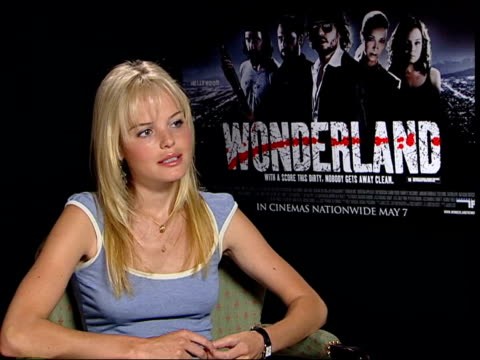Interview with Wonderland star Kate Bosworth ITN London INT Kate Bosworth interviewed SOT Idea of Hollywood it's perceived as happy place rainbow...