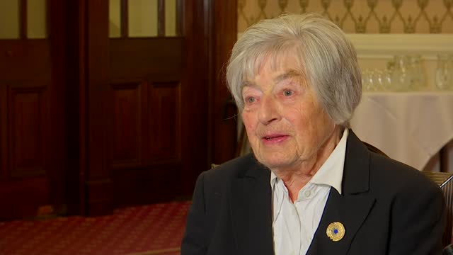 interview with wrns veteran pat davies; england: london: pat davies interview sot - war and conflict stock videos & royalty-free footage