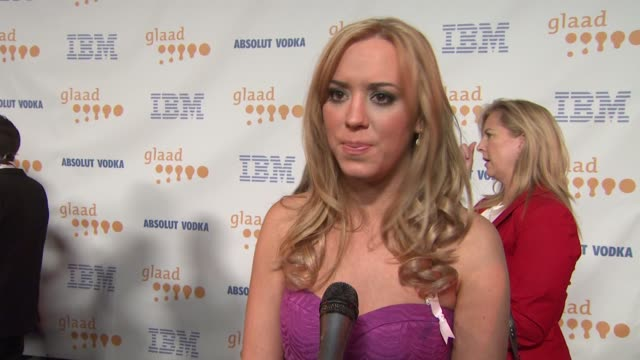 Andrea Bowen on the event at the 20th Annual GLAAD Media Awards at Los Angeles CA