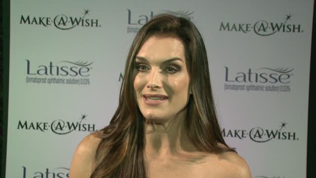 brooke shields on latisse and the make a wish foundation at the launch party for latisse at los angeles ca - brooke shields stock videos and b-roll footage