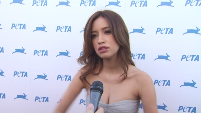 Christian Serratos on animal issues close to her heart the work of PETA advice to young people at the PETA's 30th Anniversary Gala And Humanitarian...