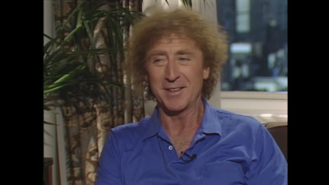 any juicy gossip about christine lahti gene wilder well she's a very good kisser interviewer is she gene wilder yes yes she is that's gonna help you... - gene wilder stock videos and b-roll footage
