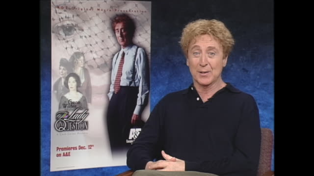 "i recently just talked with teri garr for the rerelease of ""young frankenstein"" and she said that every time you did the scene with cloris leachman... - gene wilder stock videos and b-roll footage"