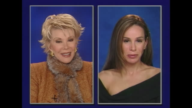 interviewer? melissa what kind of advice did your mother give you growing up? melissa rivers: oh, stand up straight and get the hair out of your eyes. - straight stock videos & royalty-free footage