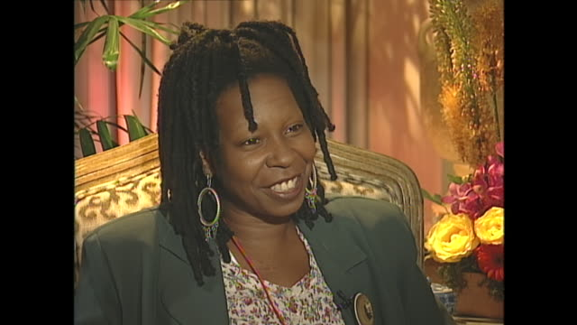 now i would have to expect that you get recognized a lot on the street whoopi goldberg yes yes interviewer what do people say to you when they come... - whoopi goldberg stock videos & royalty-free footage