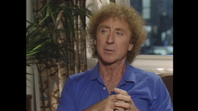 so you've worked with a lot of very funny people over the years gene wilder oh yeah i've been fortunate she's the most dramatic actress forceful... - gene wilder stock videos and b-roll footage