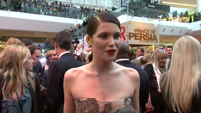 Gemma Arterton on being an action girl on having a laugh on set with Jake on helping Jake with his English accent at the Prince of Persia Premiere UK...