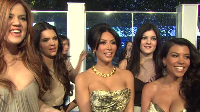 Khloe Kardashian Kendall Jenner Kim Kardashian Kylie Jenner and Kourtney Kardashian on the event at the 2011 People's Choice Awards Arrivals at Los...