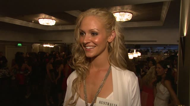 miss australia sophie lavers on how mazing it is to be a part of miss world to mix with so many people from different countries and cultures how she... - miss world pageant stock videos & royalty-free footage