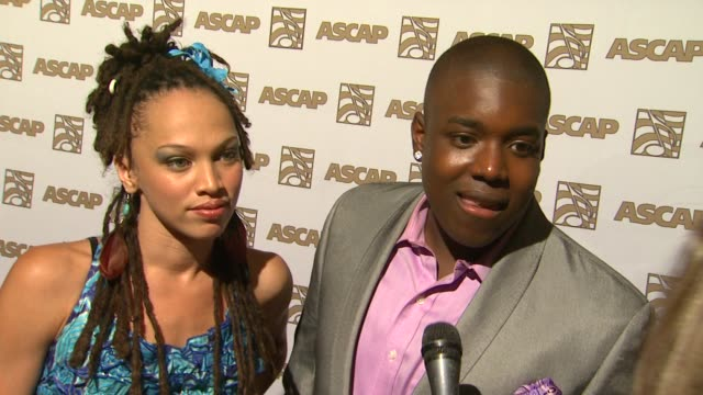 naima adedapo and jacob lusk of 'american idol' on the event songwriter at the 24th ascap rhythm soul music awards honoring sean 'diddy' combs and... - american idol stock videos and b-roll footage