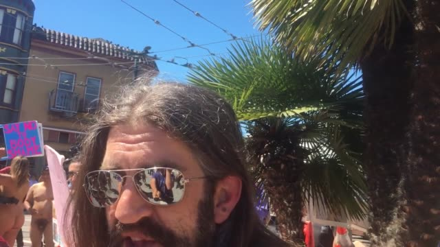 contains nudity interviews and broll footages of the summer of love event in san francisco participants marched along castro street in san francisco... - naturist stock-videos und b-roll-filmmaterial